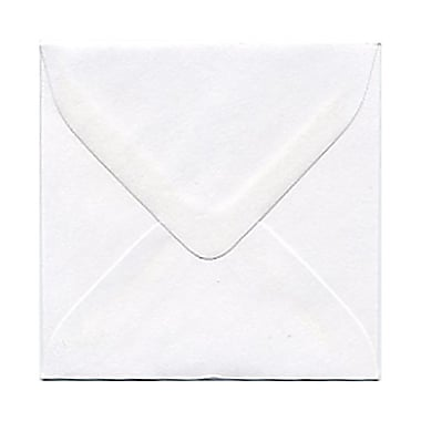 JAM Paper® Square Regular Envelopes with Gum Closures, White