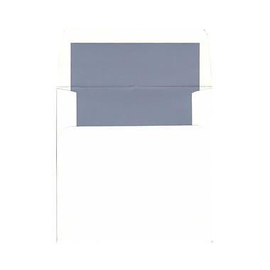 JAM PaperMD – Enveloppes carrées avec revêtement int. et ferm. gom., 5 3/4 x 5 3/4 po, blanc avec intérieur bleu, 1000/paquet