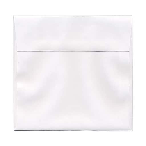 JAM Paper® 6.5 x 6.5 Square Invitation Envelopes, White, 25/Pack (28417)