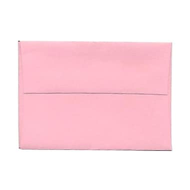 JAM Paper® 4bar A1 Envelopes, 3.63 x 5 1/8, Baby Pink, 1000/Pack (155621B)