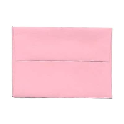 JAM Paper® 4bar A1 Envelopes, 3 5/8 x 5 1/8, Baby Pink, 1000/carton (155621B)