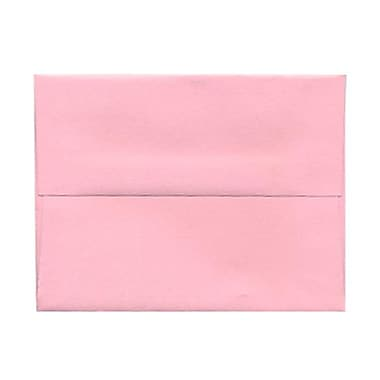 JAM Paper® A2 Invitation Envelopes, 4 3/8 x 5 3/4, Baby Pink, 25/pack (155623)