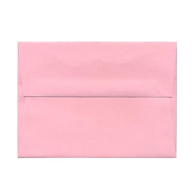 JAM Paper® A6 Invitation Envelopes, 4.75 x 6.5, Baby Pink, 1000/carton (155625B)