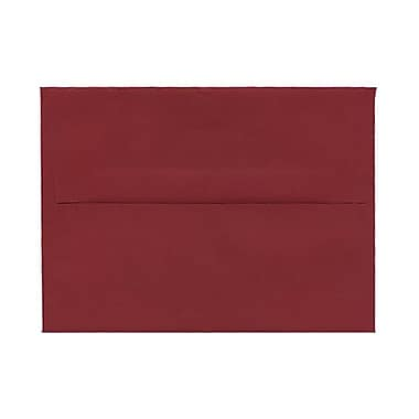 JAM Paper® A7 Invitation Envelopes, 5.25 x 7.25, Dark Red, 100/Pack (31511307g)