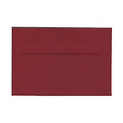JAM Paper® A8 Invitation Envelopes, 5.5 x 8.125, Dark Red, 1000/carton (31511319B)