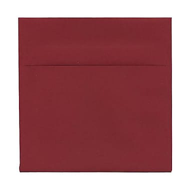 JAM Paper® 6 x 6 Square Envelopes, Dark Red, 100/Pack (31511296g)