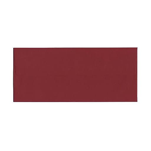 JAM Paper® #10 Business Envelopes, 4.125 x 9.5, Dark Red, 25/Pack (31511298)