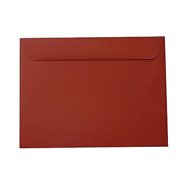 JAM Paper® 9 x 12 Booklet Envelopes, Dark Red, 100/Pack (31511309g)