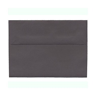 JAM Paper® A7 Invitation Envelopes, 5.25 x 7.25, Dark Grey, 100/Pack (36396434g)