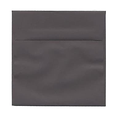 JAM Paper® 6 x 6 Square Envelopes, Dark Grey, 100/Pack (36396439g)