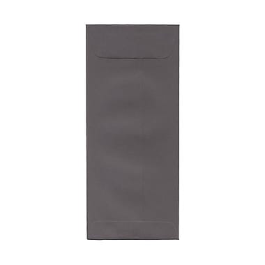JAM PaperMD – Enveloppes à ouverture au sommet format invitation avec fermeture gommée, 4 1/8 x 9 1/2 po, gris foncé, 100/paquet