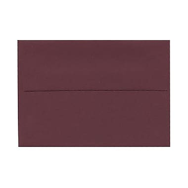 JAM Paper® 4bar A1 Envelopes, 3.63 x 5 1/8, Burgundy, 100/Pack (36395836g)
