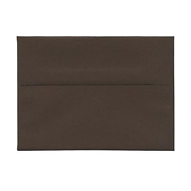 JAM Paper® A7 Invitation Envelopes, 5.25 x 7.25, Chocolate Brown Recycled, 100/Pack (233711g)