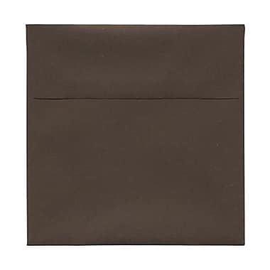 JAM Paper® 6 x 6 Square Envelopes, Chocolate Brown Recycled, 100/Pack (234680g)