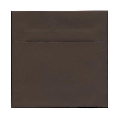 JAM Paper® 8.5 x 8.5 Square Envelopes, Chocolate Brown Recycled, 100/Pack (234681g)