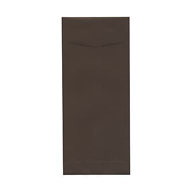 JAM Paper® #11 Policy Envelopes, 4.5 x 10.38, Chocolate Brown Recycled, 100/Pack (233716g)