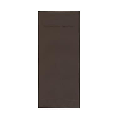 JAM Paper® #14 Policy Envelopes, 5 x 11.5, Chocolate Brown Recycled, 100/Pack (90094030g)