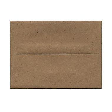 JAM Paper® A6 Invitation Envelopes, 4.75 x 6.5, Brown Kraft Paper Bag Recycled, 100/Pack (LEKR650g)