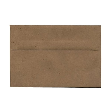 JAM Paper® A8 Invitation Envelopes, 5.5 x 8.125, Brown Kraft Paper Bag Recycled, 100/Pack (LEKR750g)