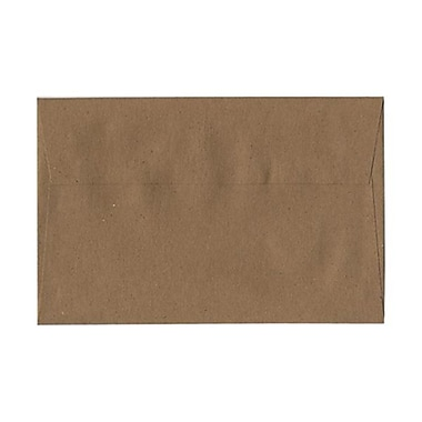 JAM Paper® A9 Invitation Envelopes, 5.75 x 8.75, Brown Kraft Paper Bag Recycled, 100/Pack (LEKR875g)