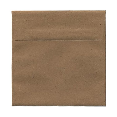 JAM Paper® 6 x 6 Square Envelopes, Brown Kraft Paper Bag Recycled, 100/Pack (LEKR502g)