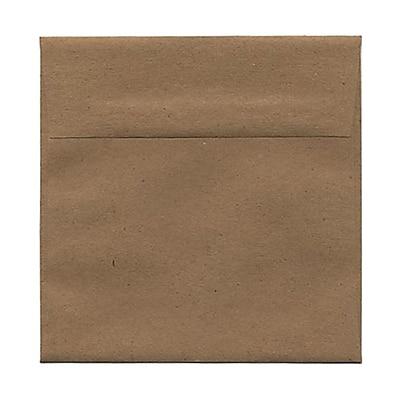 JAM Paper® 5.5 x 5.5 Square Envelopes, Brown Kraft Paper Bag Recycled, 25/pack (46317108)