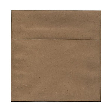 JAM Paper® 8.5 x 8.5 Square Envelopes, Brown Kraft Paper Bag Recycled, 100/Pack (LEKR505g)