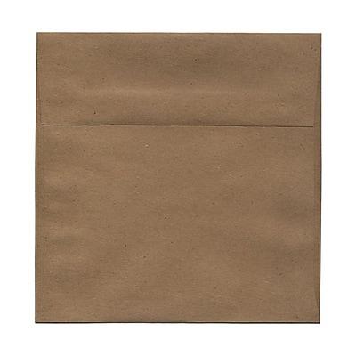 JAM Paper® 8.5 x 8.5 Square Envelopes, Brown Kraft Paper Bag Recycled, 25/pack (LEKR505)