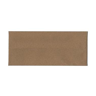 JAM PaperMD – Enveloppes recyclées format livret à fermeture gommée, 4 1/8 po x 9 1/2 po, brun Kraft, paq./100