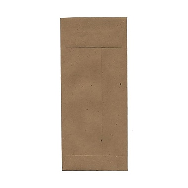 JAM Paper® #11 Policy Envelopes, 4.5 x 10.38, Brown Kraft Recycled, 50/Pack (2119018855g)