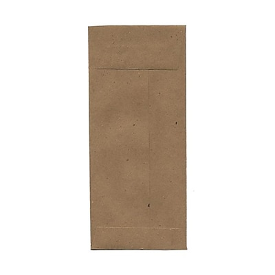 JAM Paper® #11 Policy Envelopes, 4 1/2 x 10 3/8, Brown Kraft Recycled, 25/pack (2119018855)