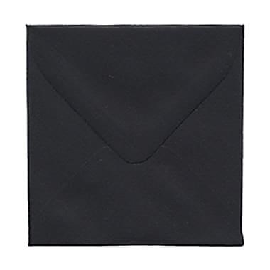 JAM Paper® 3.125 x 3.125 Mini Square Envelopes, Black Linen Recycled, 100/Pack (v01200g)