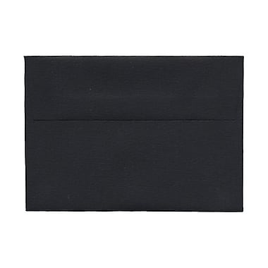 JAM Paper® 4bar A1 Envelopes, 3.63 x 5 1/8, Black Linen Recycled, 100/Pack (900919196g)