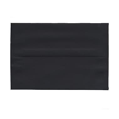JAM Paper® A8 Invitation Envelopes, 5.5 x 8.125, Black Linen Recycled, 100/Pack (64931g)