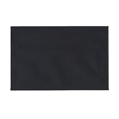 JAM Paper® A9 Invitation Envelopes, 5.75 x 8.75, Black Linen Recycled, 1000/Pack (900906807B)