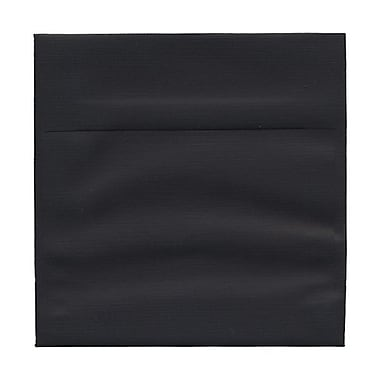 JAM Paper® 6.5 x 6.5 Square Envelopes, Black Linen Recycled, 100/Pack (v01211g)