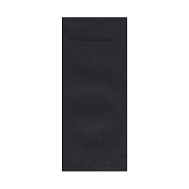 JAM Paper® #10 Policy Envelopes, 4 1/8 x 9.5, Black Linen Recycled, 100/Pack (v01218g)