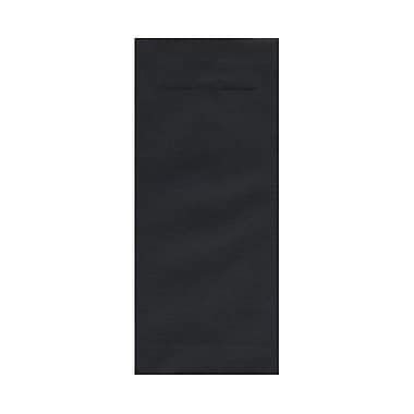 JAM Paper® #14 Policy Envelopes, 5 x 11.5, Black Linen Recycled, 100/Pack (v01221g)