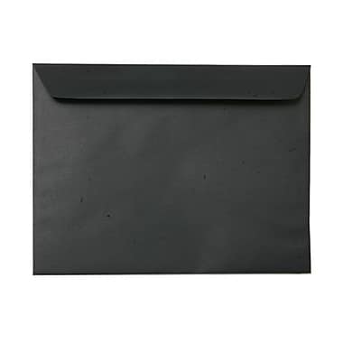 JAM Paper® 9.5 x 12.63 Booklet Envelopes, Black Linen Recycled, 1000/Pack (900934622B)
