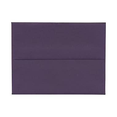 JAM Paper® A2 Invitation Envelopes, 4.38 x 5.75, Dark Purple, 100/Pack (563912506g)
