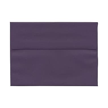 JAM Paper® A7 Invitation Envelopes, 5.25 x 7.25, Dark Purple, 100/Pack (563912508g)