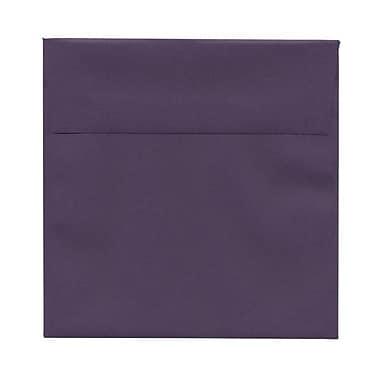 JAM PaperMD – Enveloppes carrées avec fermeture gommée, 5 1/2 x 5 1/2 po, violet foncé, 25/paquet