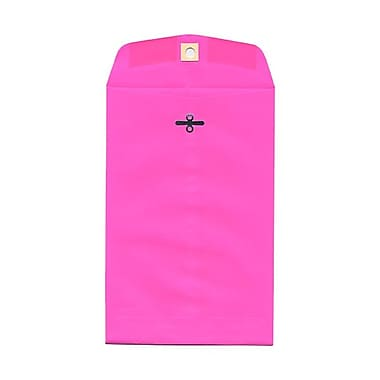 JAM Paper® 6 x 9 Open End Catalog Envelopes with Clasp Closure, Brite Hue Ultra Fuchsia Pink, 100/Pack (900909024)