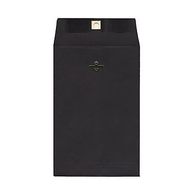 JAM Paper® 6 x 9 Open End Catalog Envelopes with Clasp Closure, Black, 10/pack (87915B)