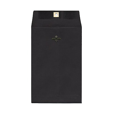 JAM Paper® 6 x 9 Open End Catalog Envelopes with Clasp Closure, Black, 100/pack (87915)
