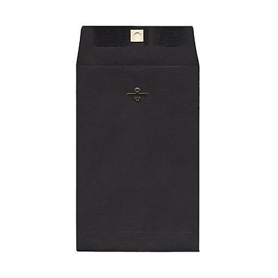 JAM Paper® 6 x 9 Open End Catalog Envelopes with Clasp Closure, Black, 10/pack (87915B)