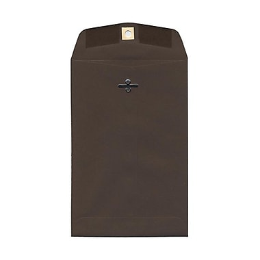 JAM Paper® 6 x 9 Open End Catalog Envelopes with Clasp Closure, Chocolate Brown Recycled, 100/Pack (234784)