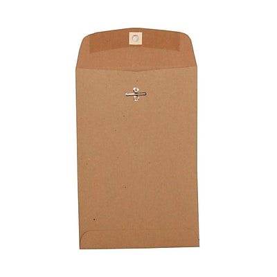 JAM Paper® 6 x 9 Open End Catalog Envelopes with Clasp Closure, Brown Kraft Paper Bag Recycled, 1000/carton (563120844C)