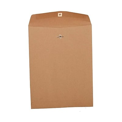 JAM Paper® 10 x 13 Open End Catalog Envelopes with Clasp Closure, Brown Kraft Paper Bag Recycled, 25/pack (563120854)