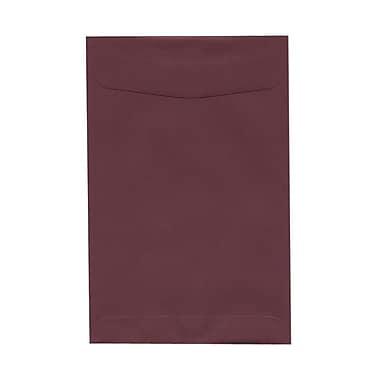 JAM PaperMD – Enveloppes ouvertes en papier texturé, 6 x 9 po, bourgogne, 100 par boîte